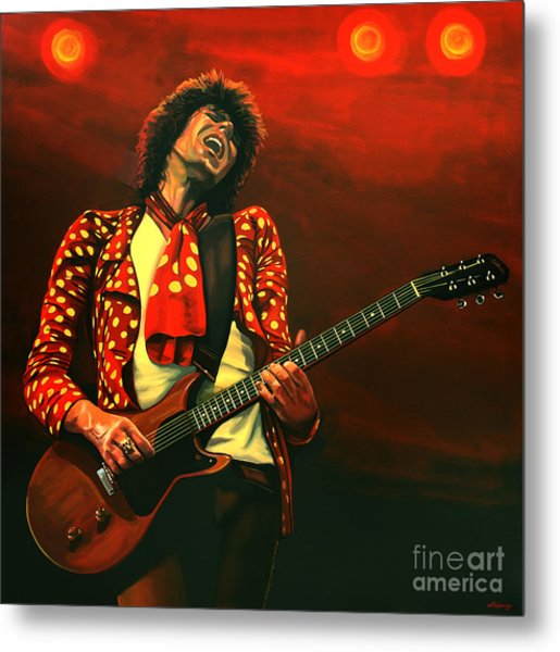 Keith Richards Painting Metal Print