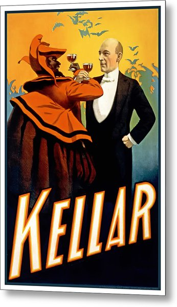 Kellar Toasts The Devil Metal Print