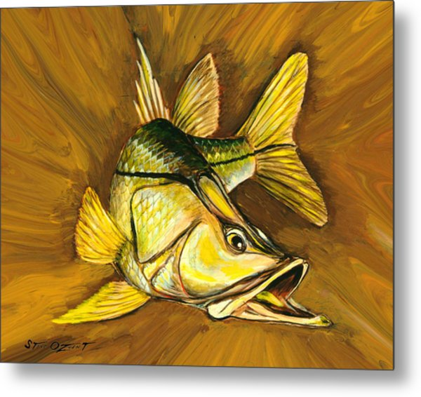 Metal Print featuring the painting Kelly B's Snook by Steve Ozment