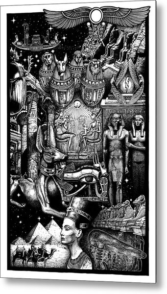 Kemitology Metal Print