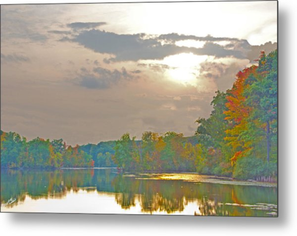 Kensington Autumn Sunset Metal Print
