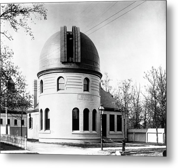 Kenwood Observatory Metal Print by Yerkes Observatory, University Of Chicago, Courtesy Emilio Segre Visual Archives/american Institute Of Physics