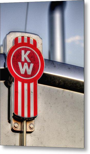 Kenworth Hood Logo 34709 Metal Print