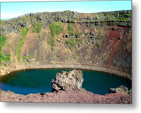 Kerio Crater Lake Metal Print