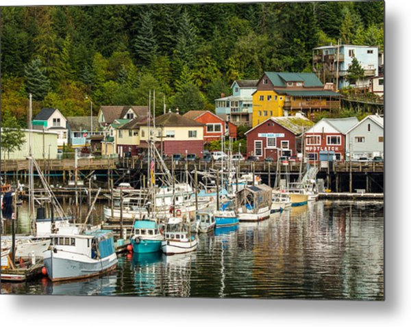 Ketchikan Harbor Metal Print