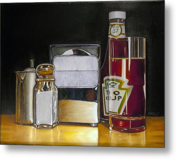 Ketchup And Diner Still Life Painting By Vic Vicini