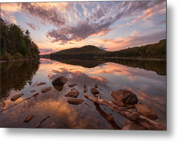 Kettle Pond Sunset Metal Print