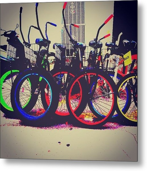 Key West Bikes For Rent Metal Print