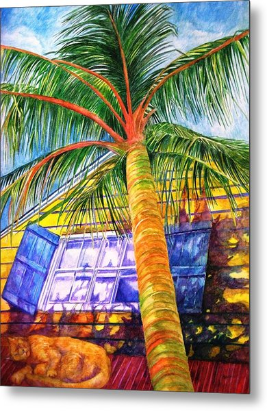Key West Cat On A Hot Tin Roof Metal Print