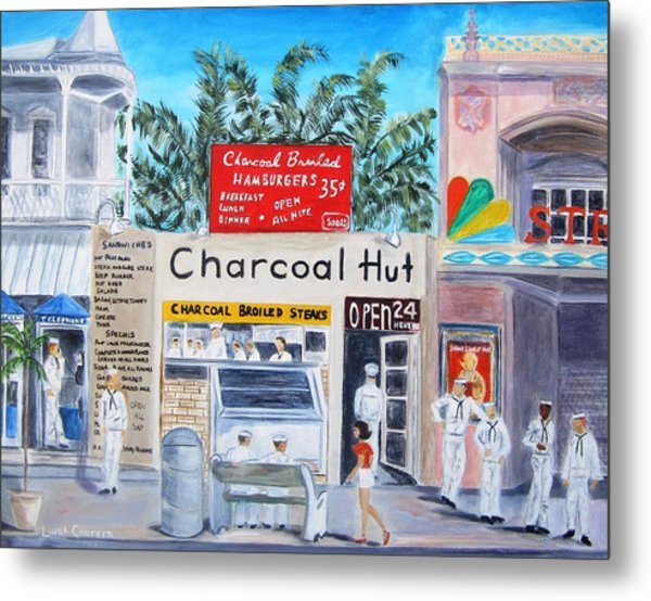 Key West Charcoal Hut Metal Print