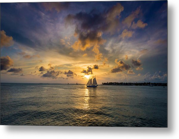 Key West Florida Sunset Mallory Square Metal Print