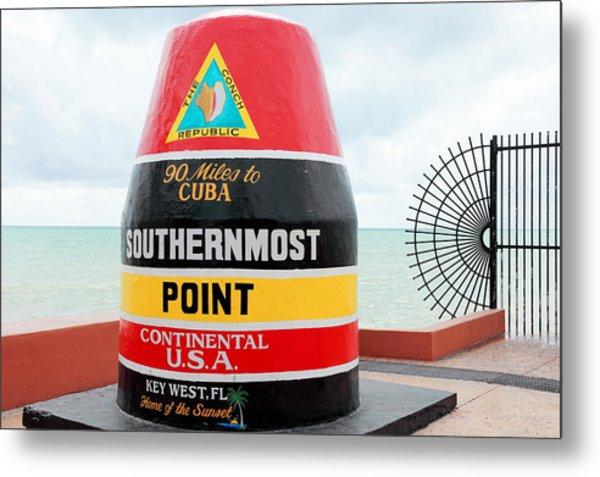 Key West Futhermost South Buoy Metal Print