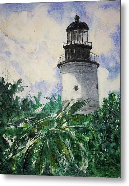 Key West Light Metal Print by Stephanie Sodel