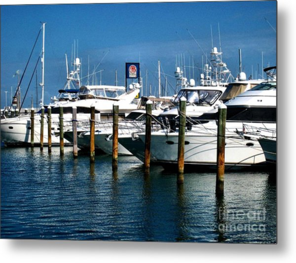 Key West Marina Metal Print by Claudette Bujold-Poirier