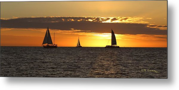 Key West Sunset Fleet Metal Print