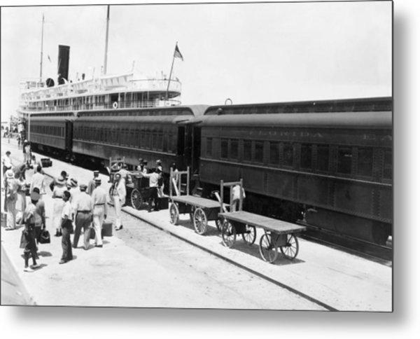 Key West Train & Ship Metal Print by Granger