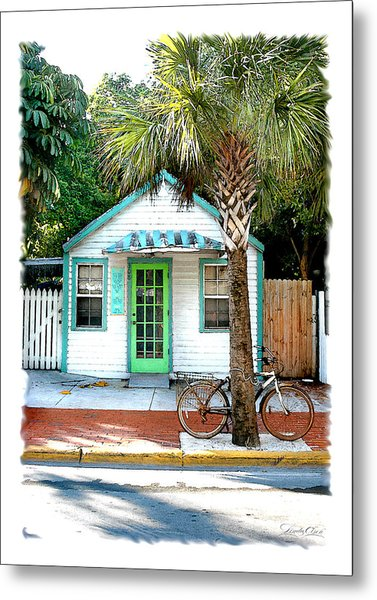 Keys House And Bike Metal Print by Linda Olsen