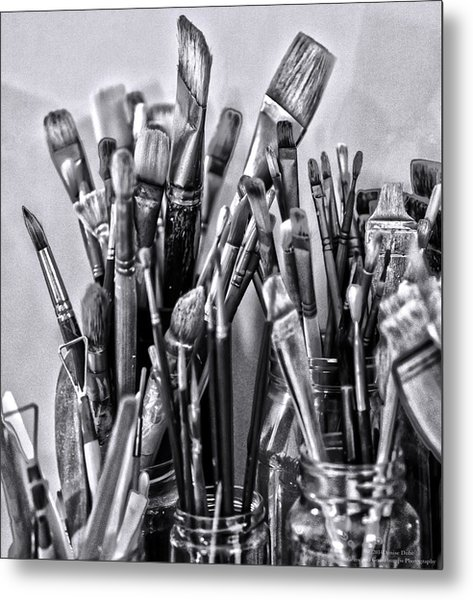 Keys To The Eye Of Life Bw By Denise Dube Metal Print