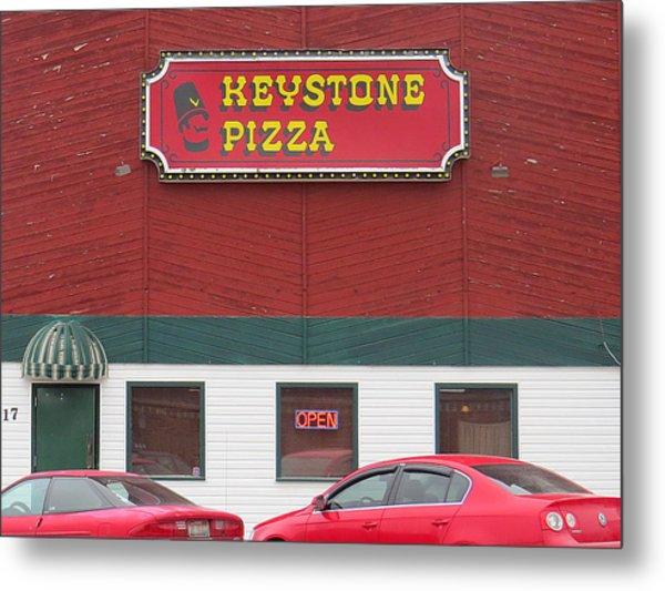 Keystone Pizza Metal Print