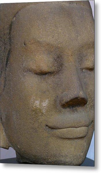 Khmer Head Metal Print