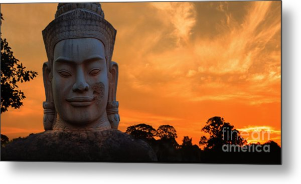 Khmer Sunrise Metal Print by Pete Reynolds