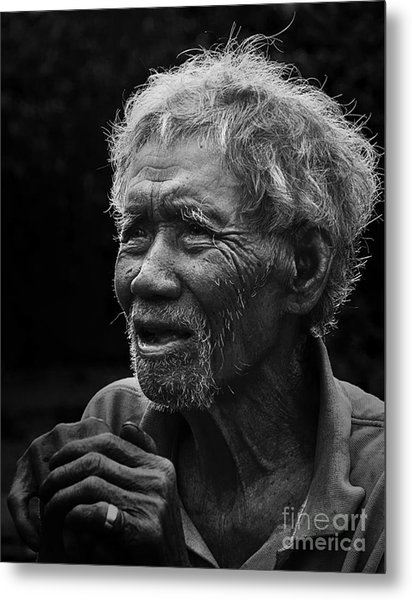 Kho Old Man Metal Print