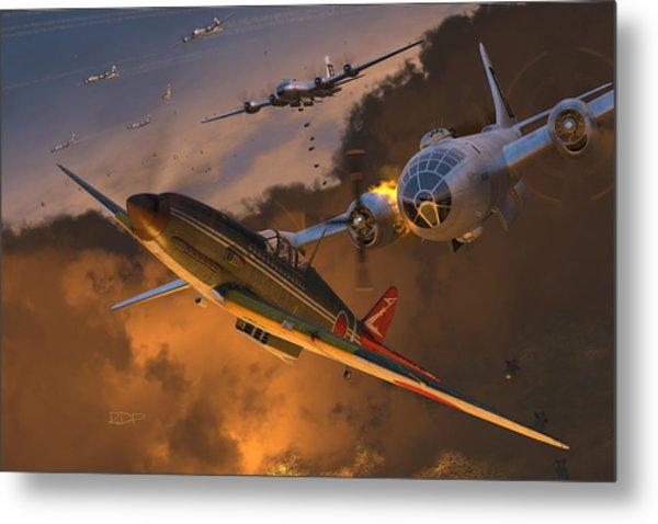 Ki-61 Hien Vs. B-29s Metal Print