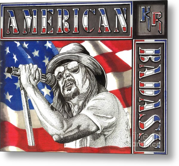 Kid Rock American Badass Metal Print