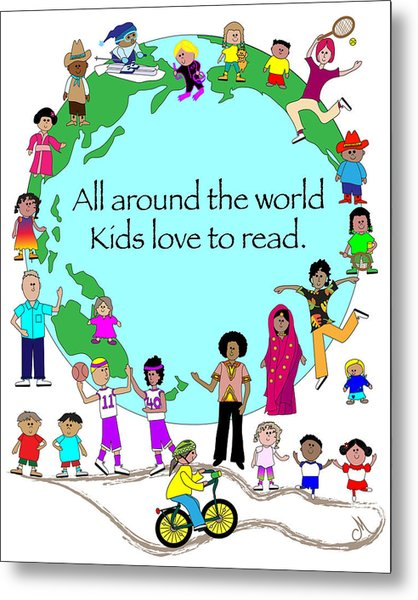 Kids Love To Read Metal Print by Chris Morningforest