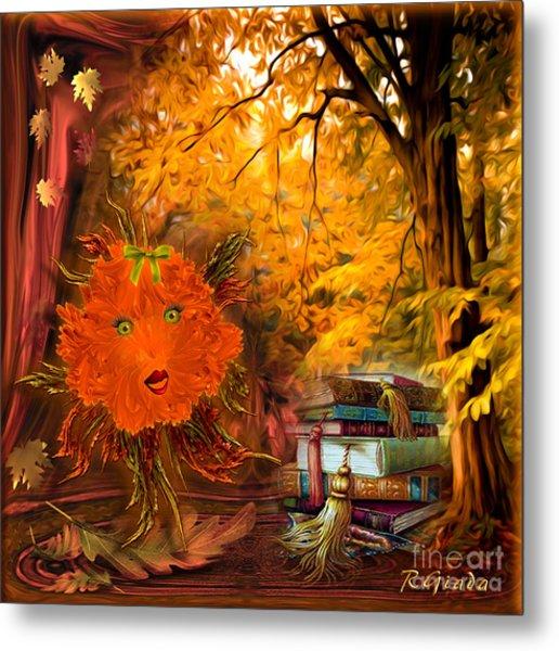 Kikki The Fluffy Flower Storyteller Metal Print
