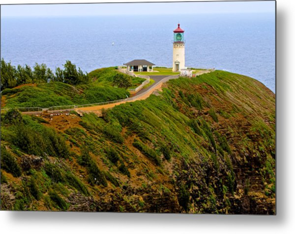 Kilauea Lighthouse In Color Metal Print