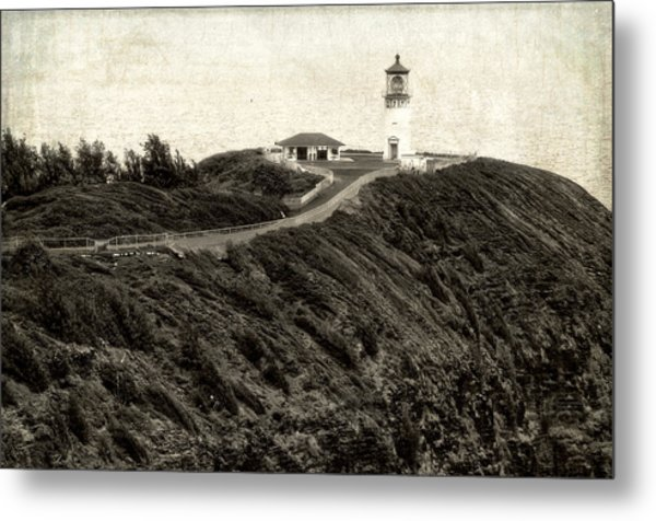 Kilauea Lighthouse Vintage Look And Feel Metal Print