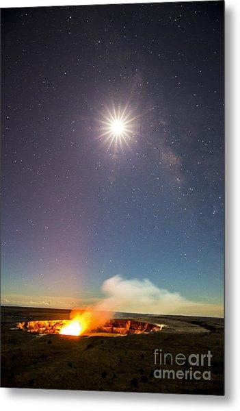 Kilauea Under The Milky Way Metal Print