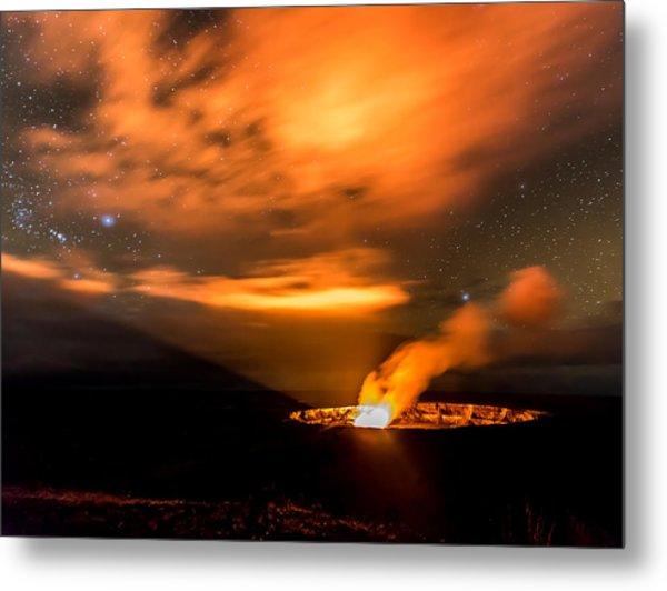 Kilauea's Glow Metal Print by Robert Yone