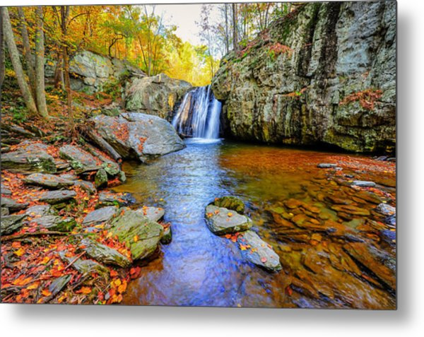 Kilgore Falls In Maryland In Autumn Metal Print