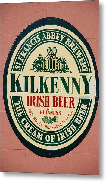 Kilkenny Irish Beer Metal Print