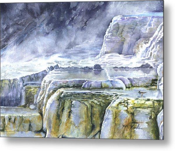 Killdeer Palisades - Mammoth Hot Springs Metal Print