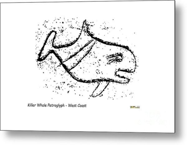 Killer Whale Petroglyph Metal Print
