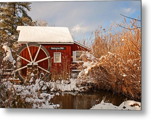 Kimberton Mill After Snow Metal Print