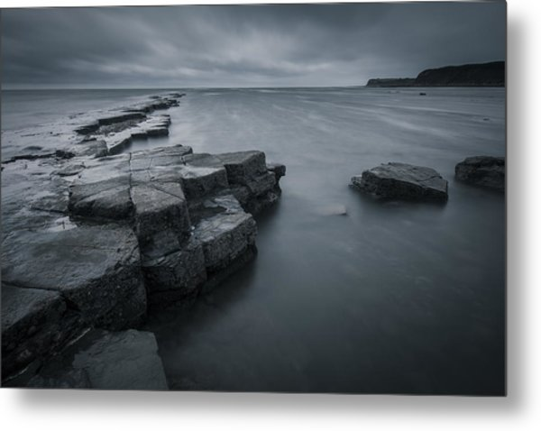 Kimmeridge Gray Metal Print