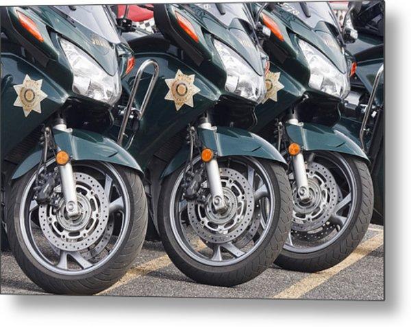 King County Police Motorcycle Metal Print