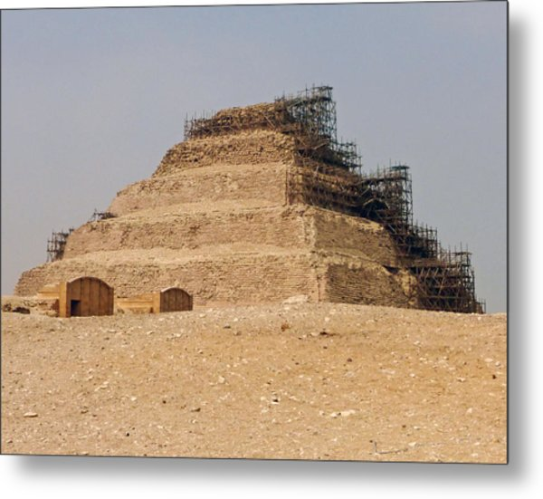 King Djoser The Great Of Saqqara Metal Print