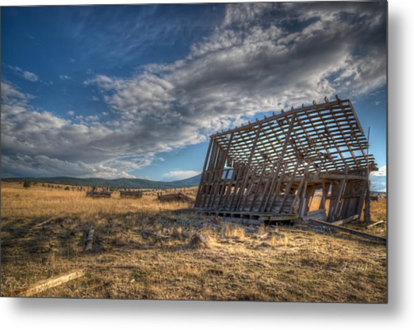 King Homestead Barn Metal Print by Joe Hudspeth