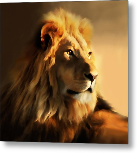 King Lion Of Africa Metal Print