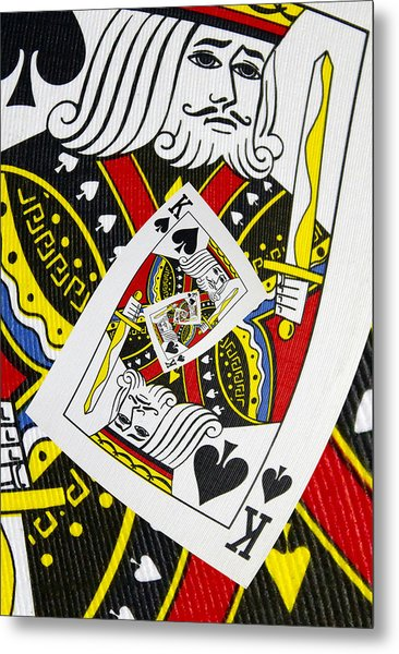 King Of Spades Collage Metal Print