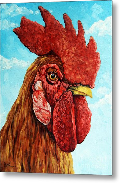 King Of The Roost Metal Print by Linda Apple