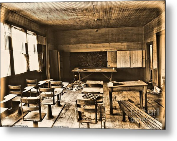 King School 1916 To 1948 Metal Print by Michelle and John Ressler