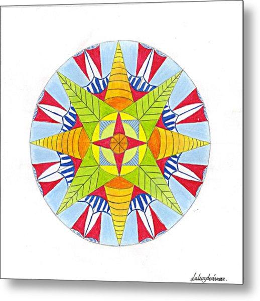Kingdom Mandala Metal Print by Silvia Justo Fernandez