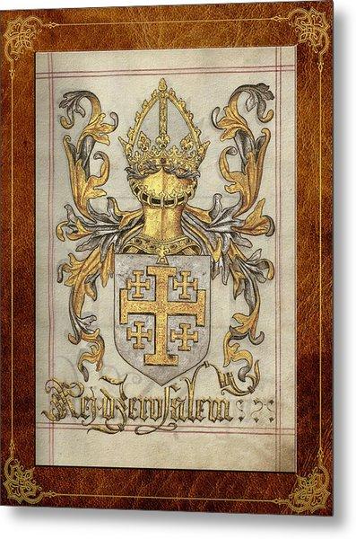 Kingdom Of Jerusalem Medieval Coat Of Arms  Metal Print