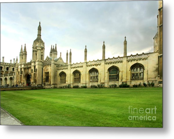 King's College Facade Metal Print